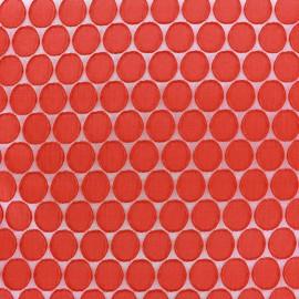 Tissu jacquard stretch Circle - rouge x 10cm