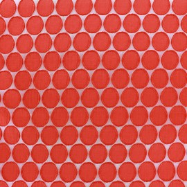 Tissu jacquard stretch Circle - rouge x 10cm
