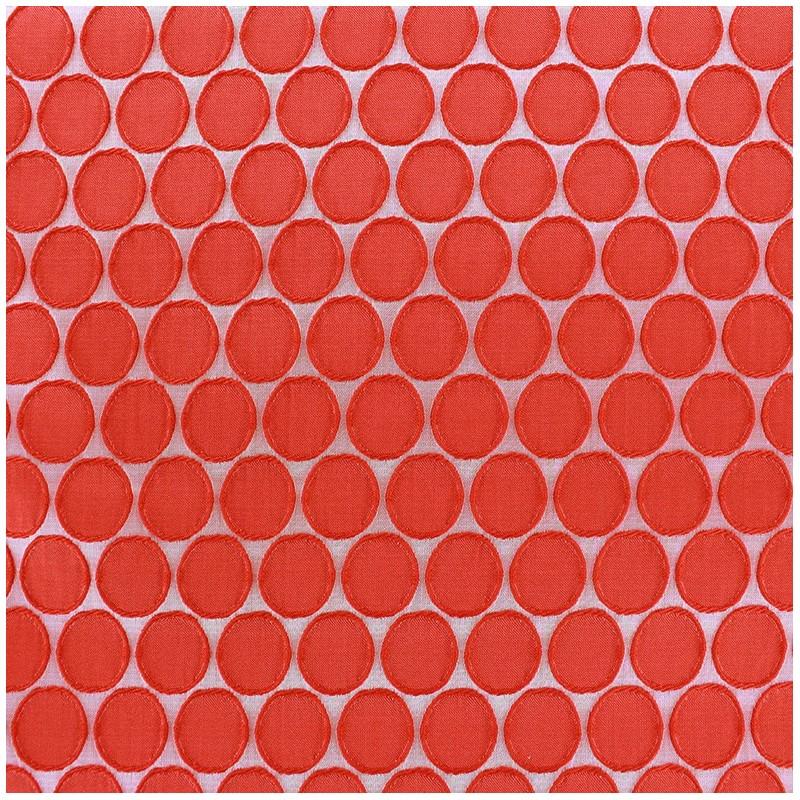 Tissus pas cher tissu jacquard stretch circle rouge - Tissus rouge pas cher ...