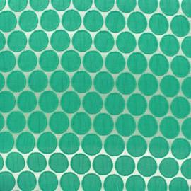 Tissu jacquard stretch Circle - vert x 10cm