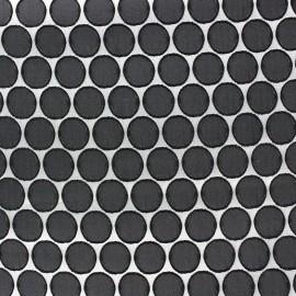 Tissu jacquard stretch Circle - noir x 10cm