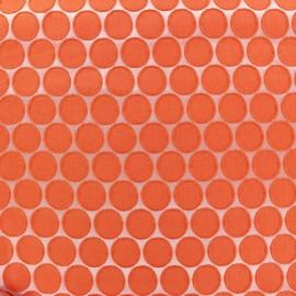 Tissu jacquard stretch Circle - orange x 10cm