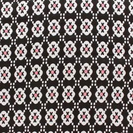 ♥ Coupon tissu 130 cm X 130 cm ♥ jacquard stretch Laura