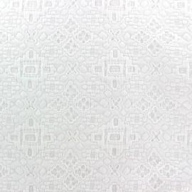 Tissu jacquard stretch Snow x 10cm