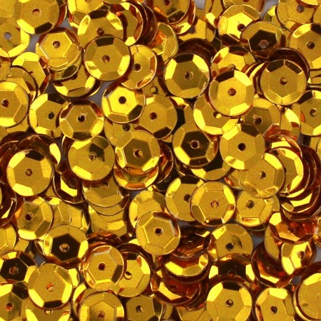A pack of sequins 7mm - gold