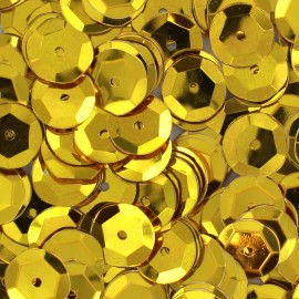 A pack of sequins 10mm - gold