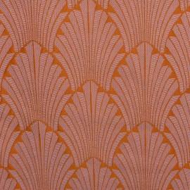 ♥ Coupon 180 cm X 140 cm ♥ Tissu toile jacquard Idole - mandarine