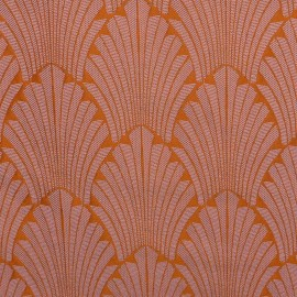 ♥ Only one piece 180 cm X 140 cm ♥ Jacquard Canvas Fabric Idole - mandarine