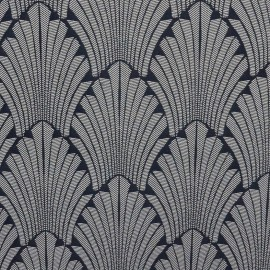 Jacquard Canvas Fabric Idole - navy x 20cm