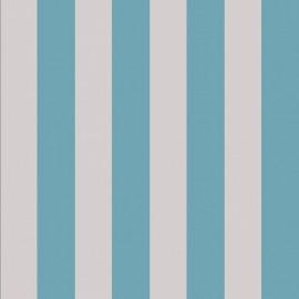 Tissu toile transat - ficelle/lagon x 10cm