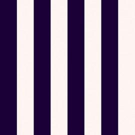 Tissu toile transat - marine/crème x 10cm