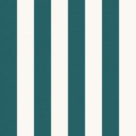 Tissu toile transat - lagon/crème x 10cm