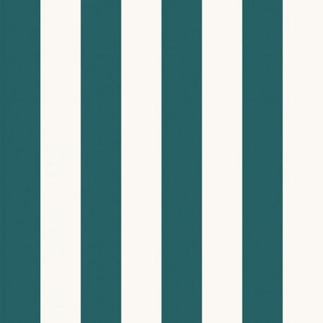 Transat Canvas Fabric - lagon/cream x 10cm