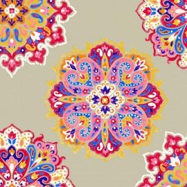 ♥ Coupon 330 cm X 280 cm ♥ Cotton Canvas Fabric Woodstock - linen