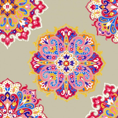 Cotton Canvas Fabric Woodstock - linen x 30cm