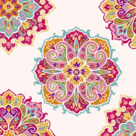 Cotton Canvas Fabric Woodstock - cream x 30cm