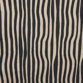 Tissu toile jacquard Surfliner - noir/ficelle x 10cm