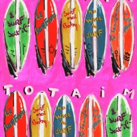 ♥ Coupon 300 cm X 140 cm ♥  Tissu toile coton Surfari - rose