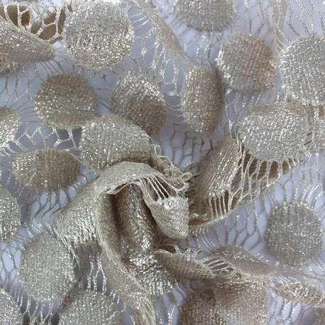 Heavy Lace Fabric Pastille - beige