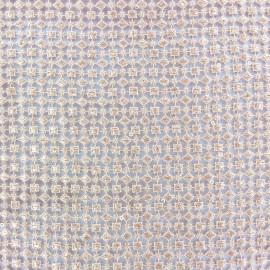 Heavy Lace Fabric Dimaond - light peach x 10cm