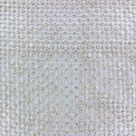 Tissu Dentelle guipure Diamond doré x 10cm
