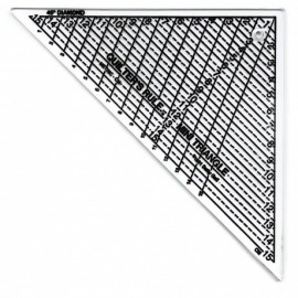 Quilter's Rule mini triangle, patchwork ruler 15 cm