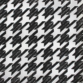 ♥ Only one piece 266 cm X 130 cm ♥ Organza Fabric Houndstooth - black