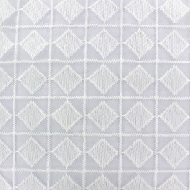 ♥ Coupon 190 cm X 130 cm ♥ Organza Fabric Carro - white
