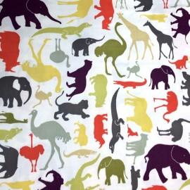 Tissu Coton Makower UK - Baby Chic - Multi Animal Vert  x 60cm