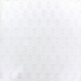 Muslin fabric Roxane - white x 10cm