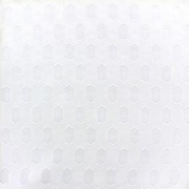 Tissu mousseline Roxane - blanc x 10 cm
