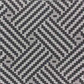 Tissu Vista noir et blanc x 10cm