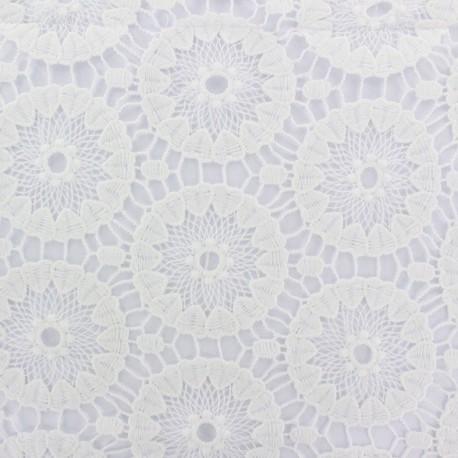 Heavy Lace Fabric Annabelle - white x 16cm