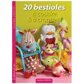 """Livre """"20 bestioles à coudre & à croquer"""""""