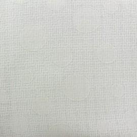 Tissu Tweed Fancy dots - blanc x 10cm