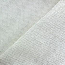 ♥ Coupon tissu 180 cm X 140 cm ♥ Tissu Tweed Fancy pattern - blanc