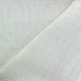 Tweed fabric Fancy pattern - white x 10cm
