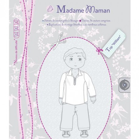 """""""WILLIAM top"""" - sewing pattern"""