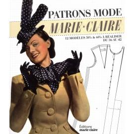"""Livre """"Patrons mode Marie Claire"""""""
