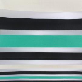 Striped organza Fabric Océane x 32cm