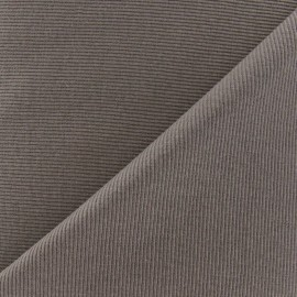 Knitted Jersey 1/2 tubular edging fabric x 10 cm - taupe