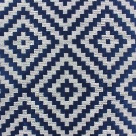 Tissu Jacquard Vannerie losange bleu nuit x 13cm