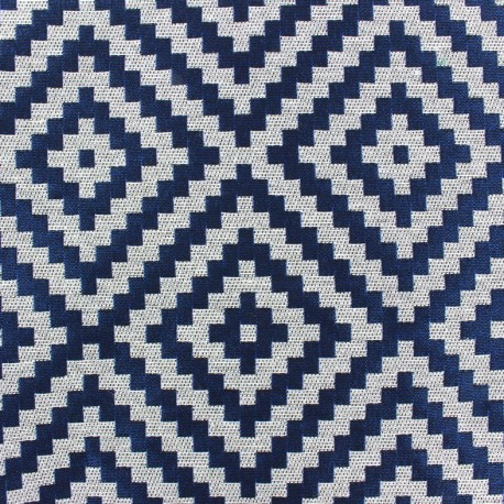 Vannerie fabric - night blue x 10cm