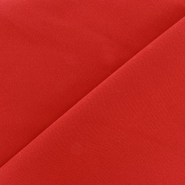 Tissu Burling - rouge orange x 10cm