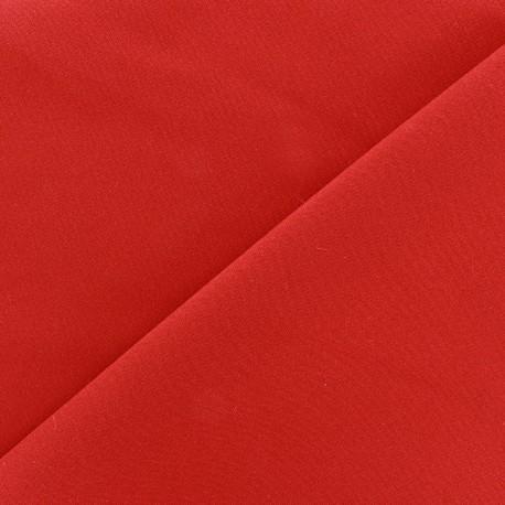 Tissu Burling - rouge orange x 10cm