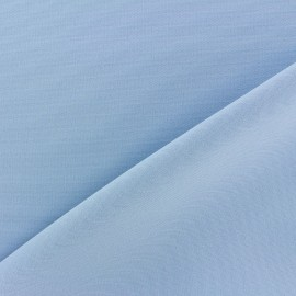 Tissu Burling - bleu dragée x 10cm