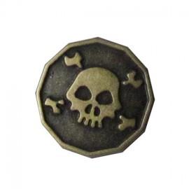 Tête de mort bronze