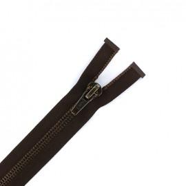 7 mm metal Separating zipper - brown