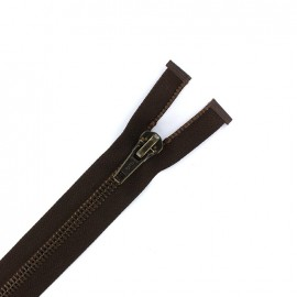 Fermeture Eclair® 7mm métal séparable marron