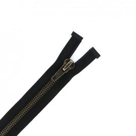 7 mm metal Separating zipper - black